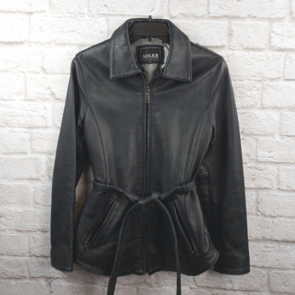 Adler Collection Jackets & Blazers - Adler Collection women's Black Leather Jacket